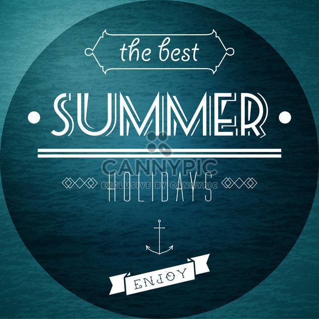 summer vacation holidays picture - Free vector #134316