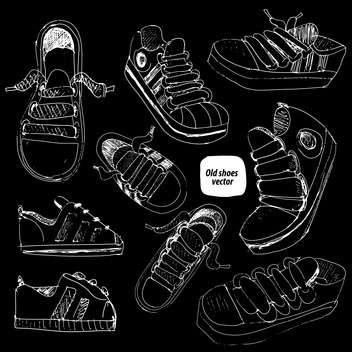 doodle shoes sketch set - vector gratuit #134346