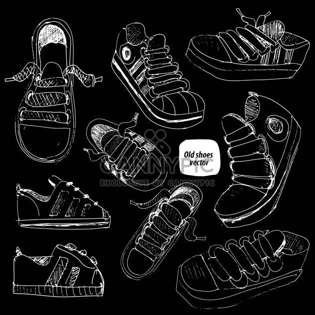 doodle shoes sketch set - Free vector #134346