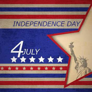 usa independence day poster - vector #134366 gratis