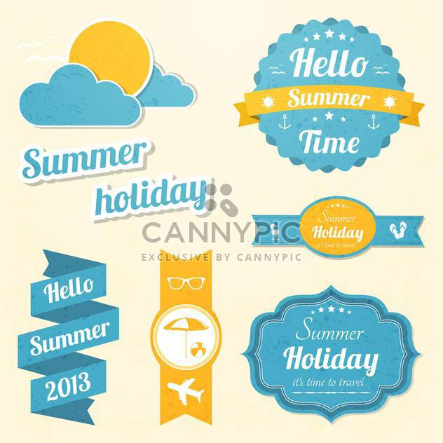 summer holiday vacation signs set - Free vector #134376