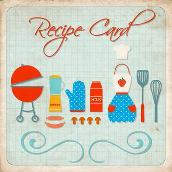 cooking recipe card background - vector gratuit #134386