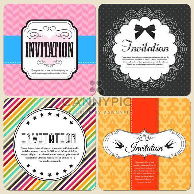 invitation cards set background - Free vector #134396