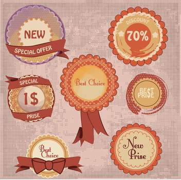 sale shopping signs labels set - vector #134406 gratis