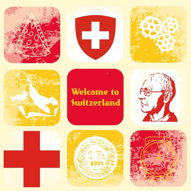 switzerland travel icons set - vector #134416 gratis