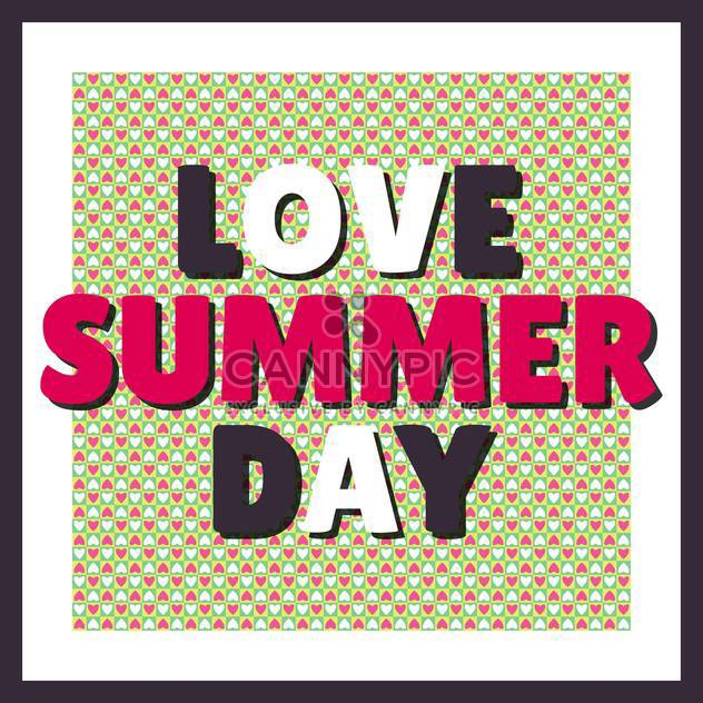 Liebe Sommer Tag background - Kostenloses vector #134426