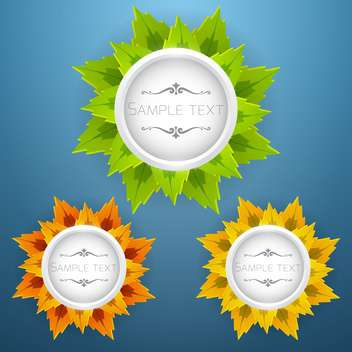 different season floral labels set - Free vector #134436