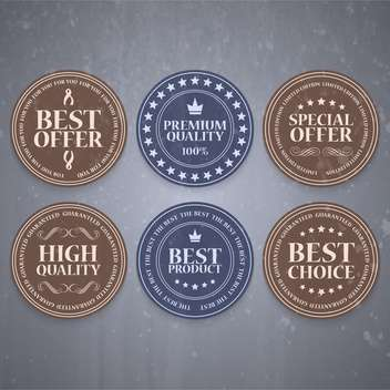 high quality sale labels and signs - vector gratuit #134446