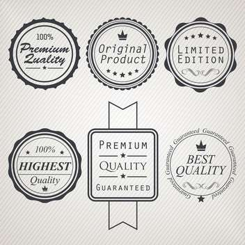 high quality sale labels and signs - vector gratuit #134466