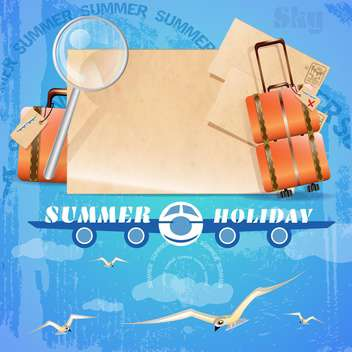 summer holiday vacation background - vector gratuit #134476