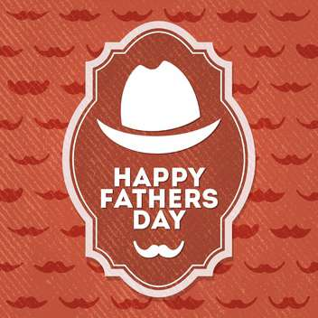 happy father's day label - vector #134496 gratis