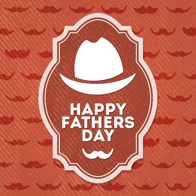 happy father's day label - vector gratuit #134496