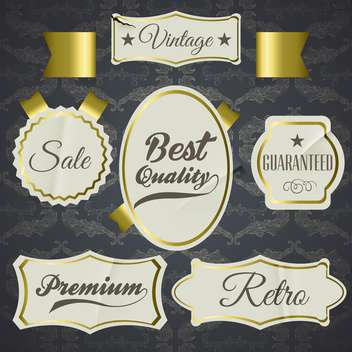 set of labels for best quality items - vector gratuit #134596
