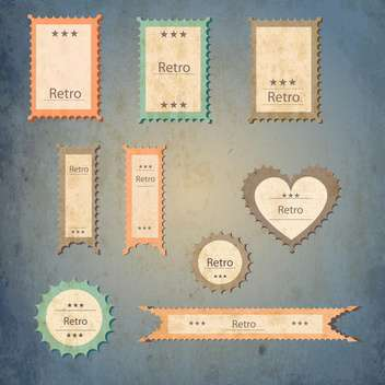 set of graphic vector labels - vector #134616 gratis