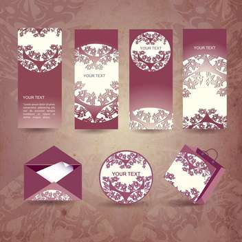 set of vector vintage envelope - бесплатный vector #134626