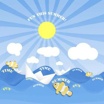summer time vacation holiday banner - vector #134636 gratis