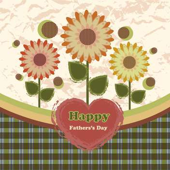 happy fathers day vintage card - vector #134656 gratis