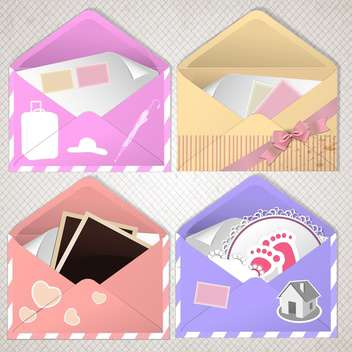 envelope design with place for text - vector gratuit #134666
