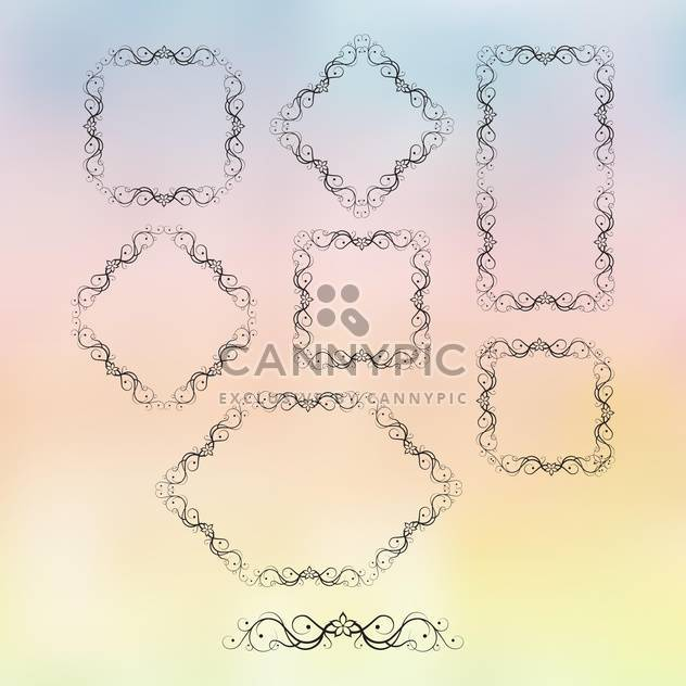 retro frame ornate set - Free vector #134686