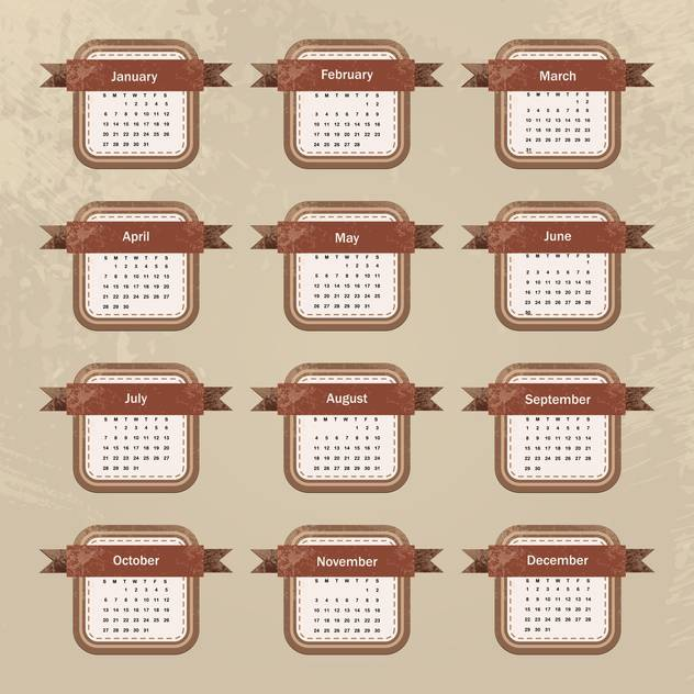 year calendar vector background - Free vector #134706