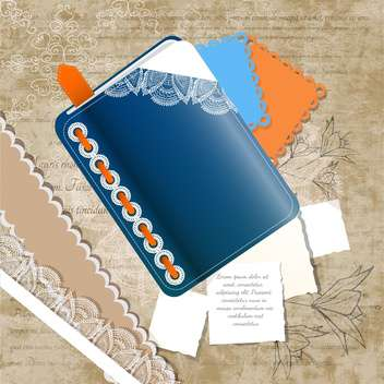 art vintage notepads illustration - vector #134736 gratis