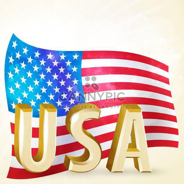 vintage vector independence day background - Free vector #134766