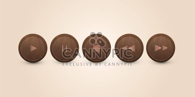 vector set of media buttons - Free vector #134886