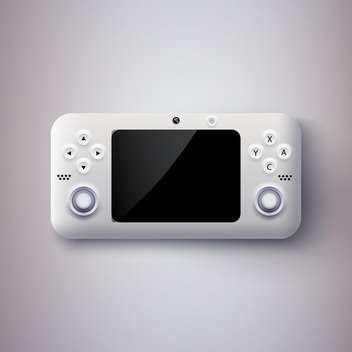 vector illustration of game console - vector gratuit #134926