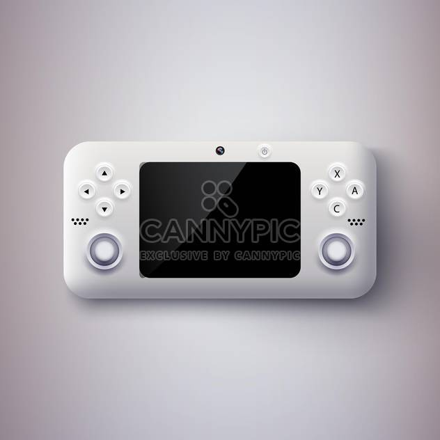 vector illustration of game console - Free vector #134926