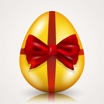 easter egg tied with ribbon and bow - бесплатный vector #134956