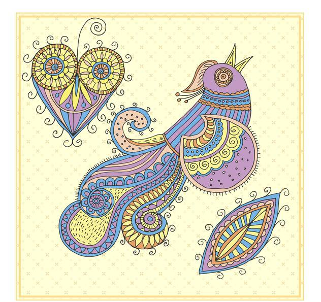 fairy firebird cartoon vector illustration - Free vector #135016
