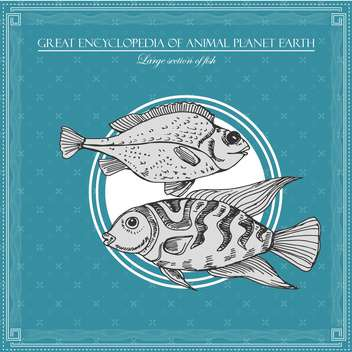 fish illustration in great encyclopedia of animal - бесплатный vector #135026