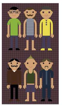 cartoon men icons set illustration - Kostenloses vector #135036