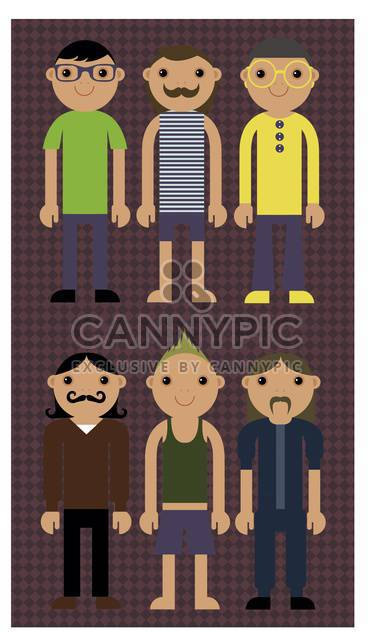 cartoon men icons set illustration - Free vector #135036