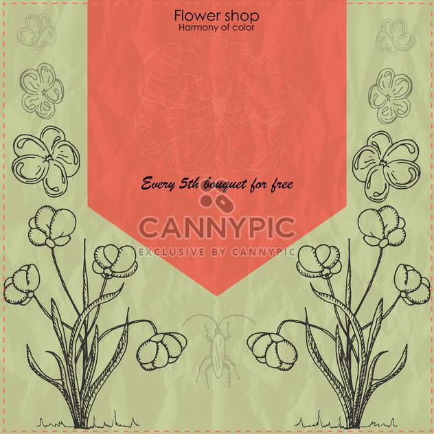 vector flower shop vintage banner background - Free vector #135246