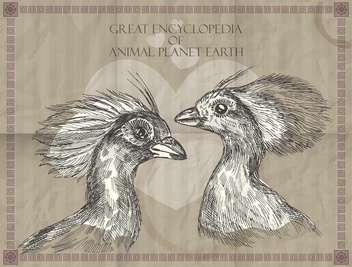 Vector peacocks heads from Great Encyclopedia of animals Planet Earth - Free vector #135316